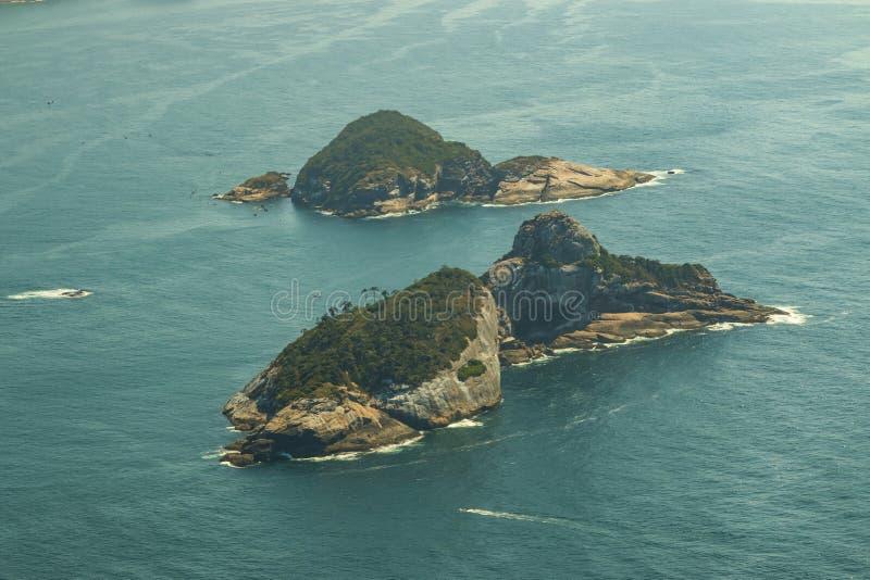 Islas hermosas, islas Rio de Janeiro Brazil de Cagarras fotografía de archivo