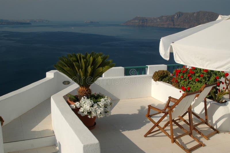 Islas increíbles del Griego del santorini foto de archivo libre de regalías