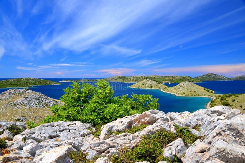 Islas parque nacional, Croacia de Kornati fotos de archivo