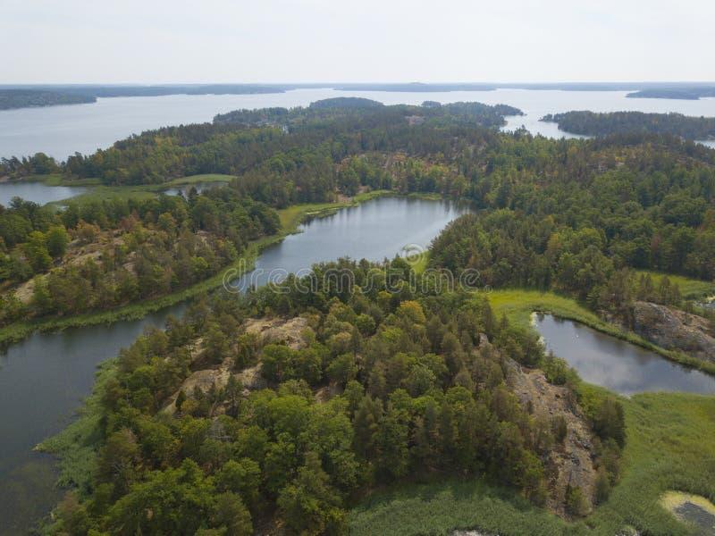 Islas suecas del archipiélago foto de archivo libre de regalías