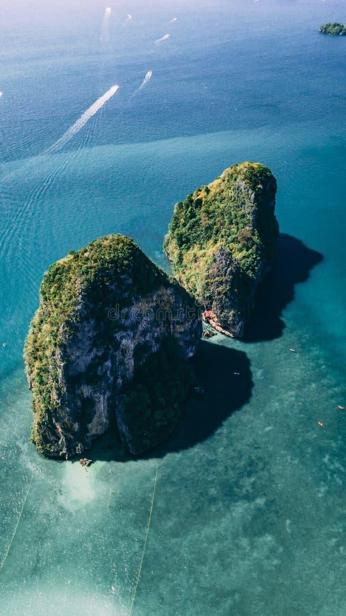 Islas tailandesas del top imagen de archivo libre de regalías