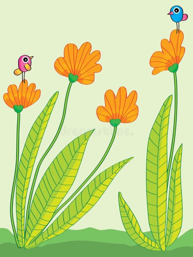 Изолированный цветок сравнивает abstarct бесплатная иллюстрация
