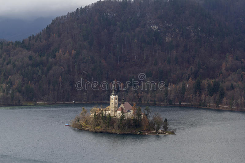 The isle of Bled stock images