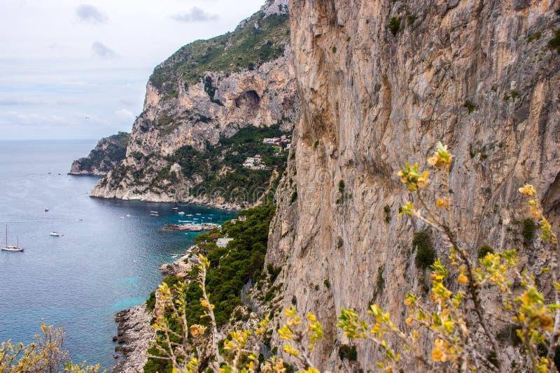 the Isle of Capri in Italy royalty free stock photography