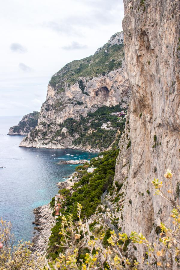 the Isle of Capri in Italy royalty free stock photo