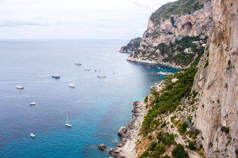the Isle of Capri in Italy stock photos