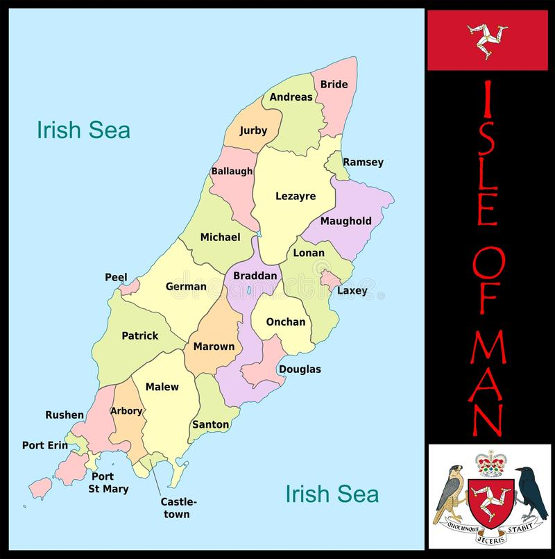 Isle Of Man Administrative Divisions Stock Illustration