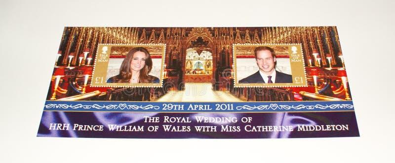 Isle of Man's stamp sheet on Royal Wedding 2011. royalty free stock photos