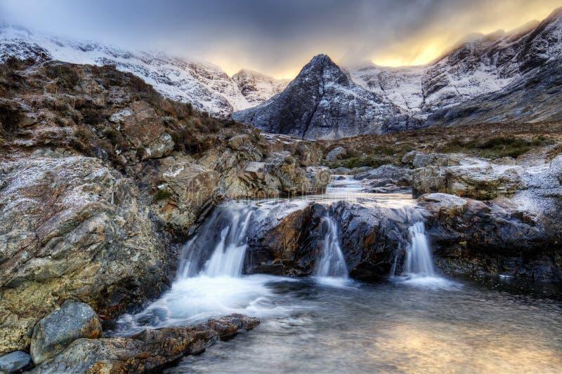 Isle of Skye, Fairy Pools. Fairy Pools in Glen Brittle, Isle of Skye, Scotland, UK stock image