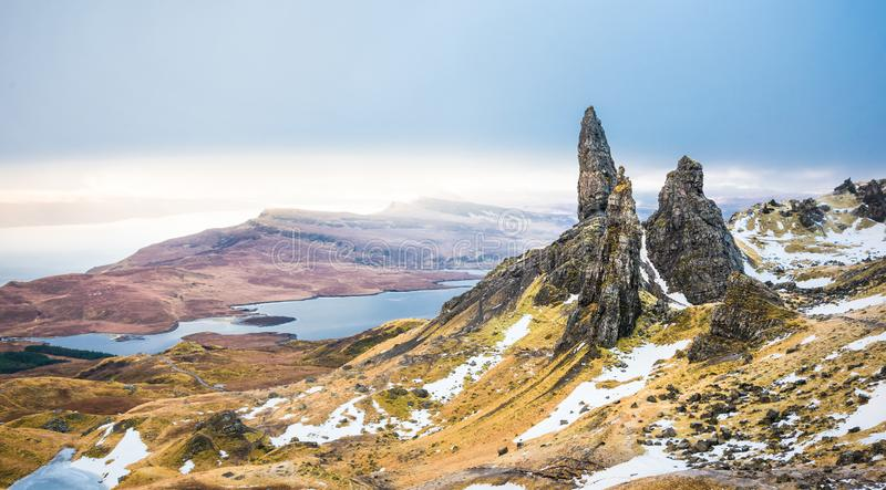 Isle of Skye - Old Man of Storr royalty free stock images