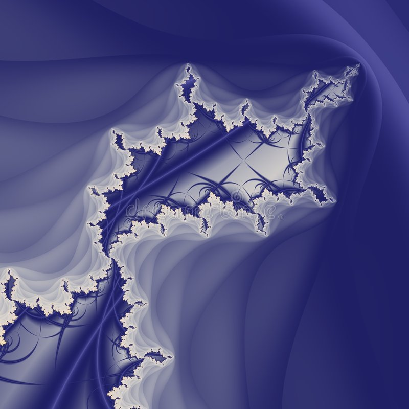 Isle of Veils. A fractal island with considerable depth. Different shading methods inside and out. Peaceful contrast vector illustration