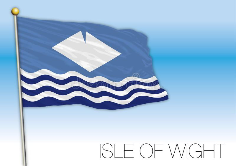 Isle of Wight county flag, United Kingdom. Vector illustration, isolated on the blye sky background vector illustration