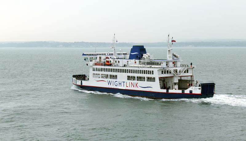 Isle of Wight Ferry Leaving Portsmouth 21st May 2016. Wightlink ferry St Cecilia leaving Portsmouth, United Kingdom for the Isle of Wight on May 21st 2016 stock photo