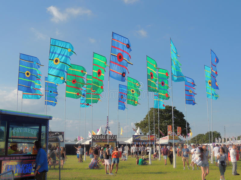 Isle of Wight Festival Flags royalty free stock photos
