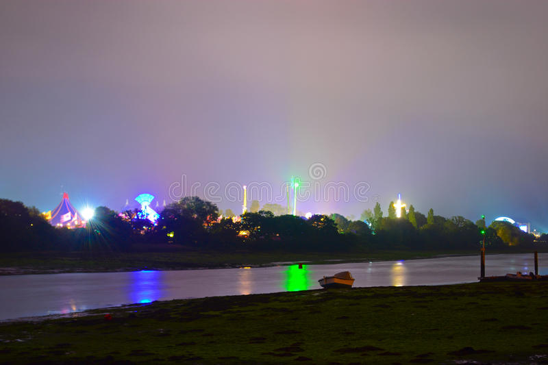 Download Isle Of Wight Festival At Night Stock Photo - Image: 92166810