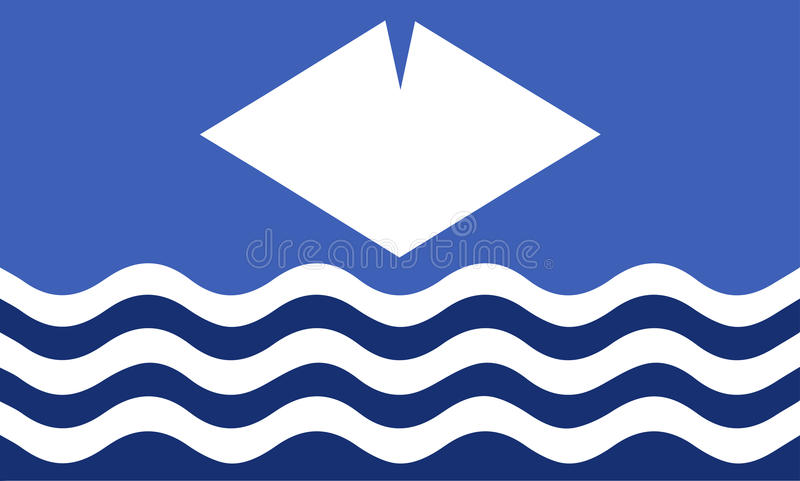 Isle Of Wight Flag. An Isle of Wight flag design royalty free illustration