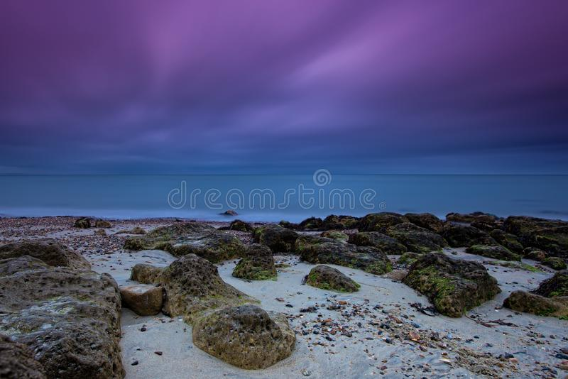 Isle of Wight. St Helen`s Beach royalty free stock photography