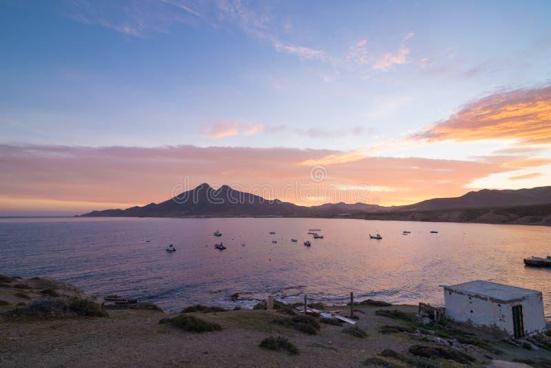 Isleta del Moro κόλπος στοκ εικόνες