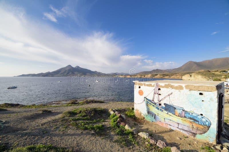 Isleta del moro σε Cabo de Gata στοκ εικόνες με δικαίωμα ελεύθερης χρήσης