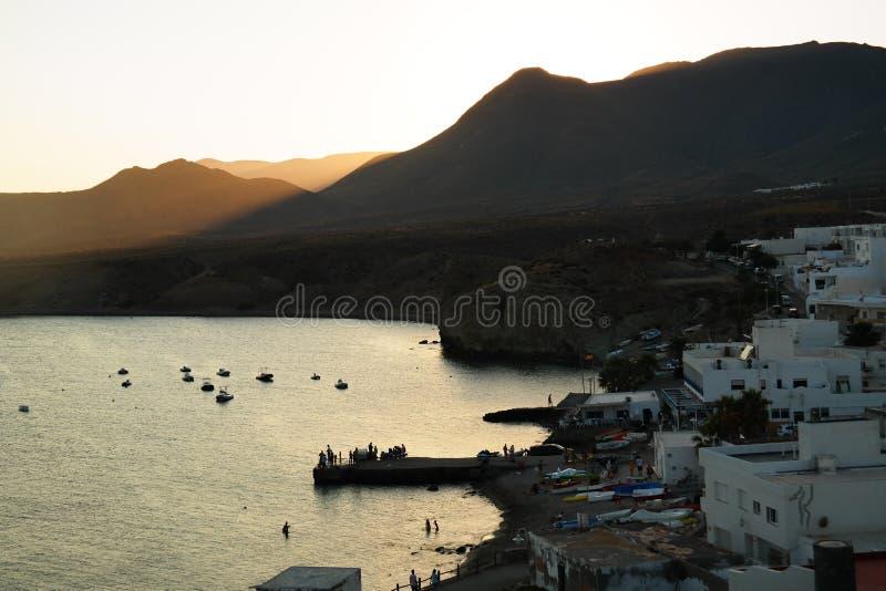 Isleta del Moro, Almeria stock afbeeldingen