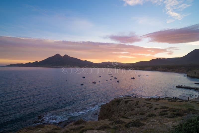 Isleta del Moro bay royalty free stock photography