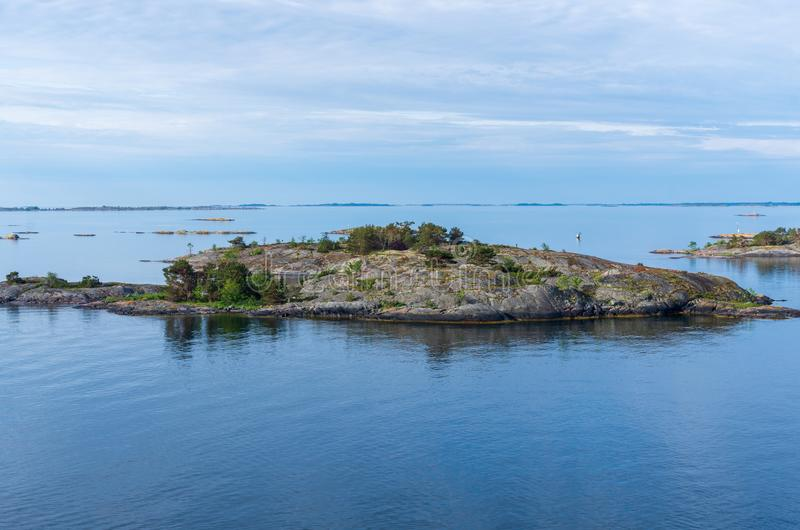 Islets of Stockholm Archipelago in Baltic Sea. Sweden stock photos