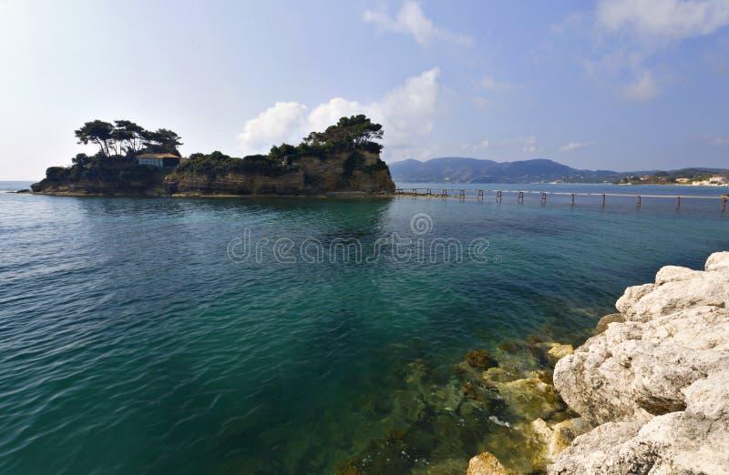 Islli van Sostis van agio's in Zakynthos in Griekenland royalty-vrije stock fotografie