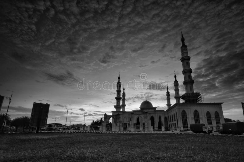 Ismaili da mesquita, tumpat kelantan malaysia imagem de stock