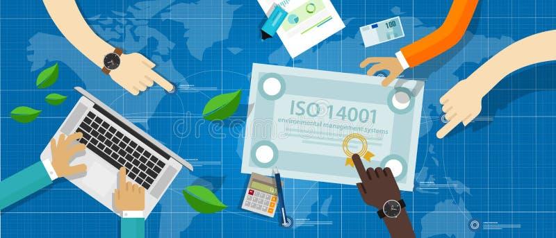 ISO 14001环境管理系统证明标准服从 皇族释放例证