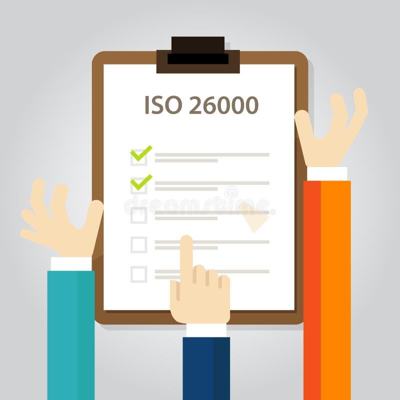 ISO 26000社会责任感标准对国际组织手审计检查文件的企业服从 皇族释放例证