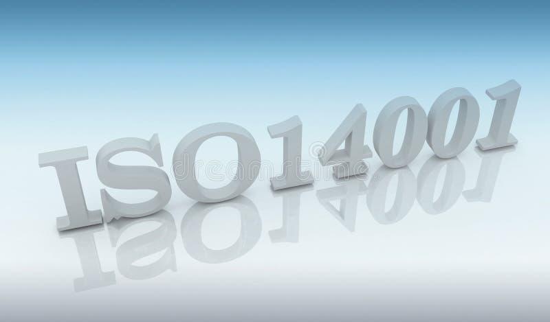ISO 14001 royaltyfri illustrationer