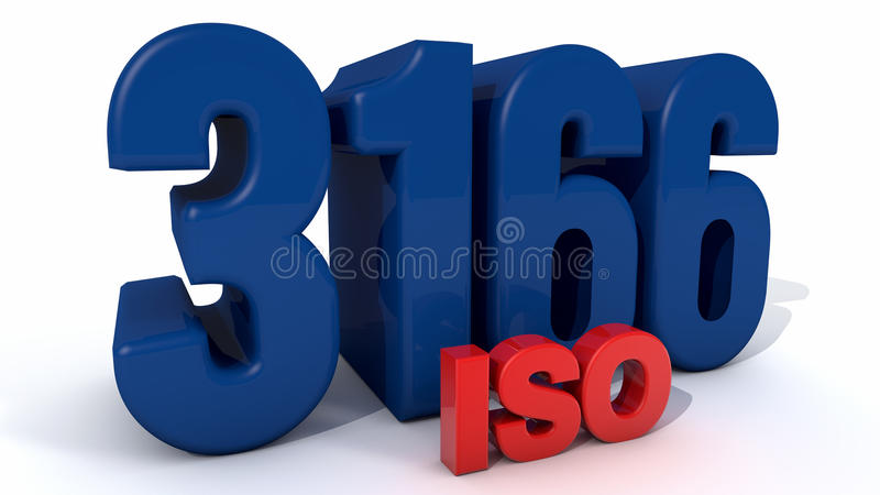 ISO 3166 royaltyfri illustrationer