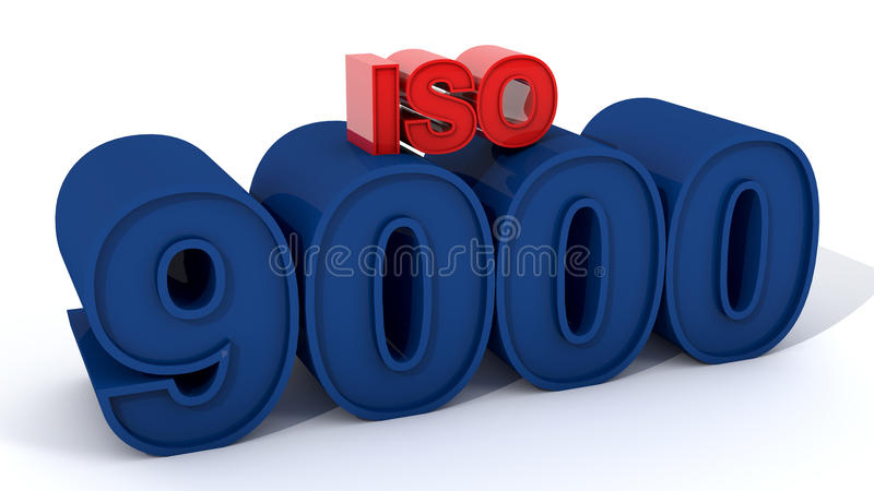 ISO 9000 royaltyfri illustrationer