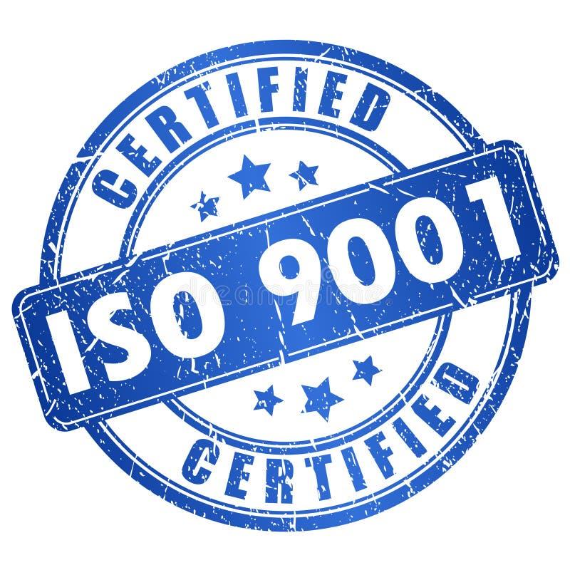 Iso 9001 certificado ilustração stock