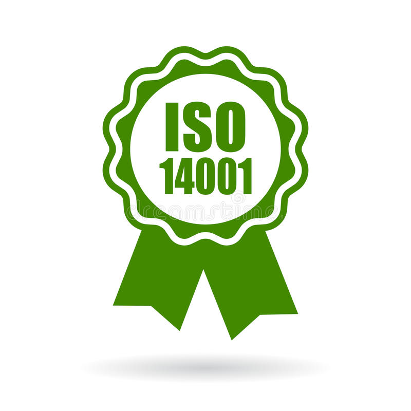 Iso 14001 certified green icon vector illustration