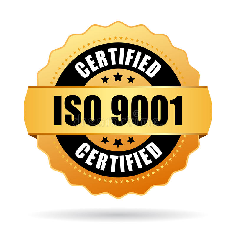Iso 9001 certified icon royalty free illustration