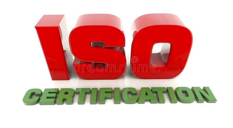 ISO 9001 3d stock illustrationer