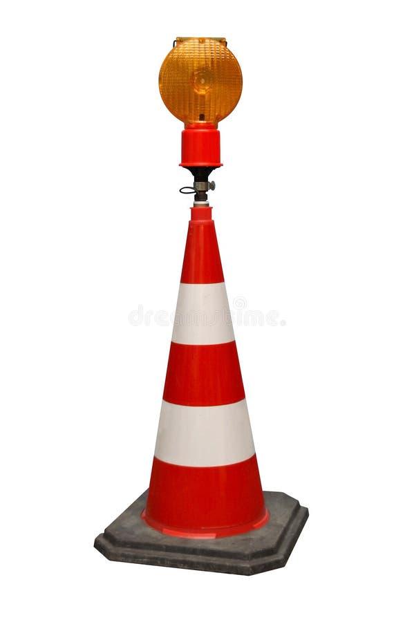 Iso da lanterna elétrica do cone W. de Traf. imagem de stock royalty free