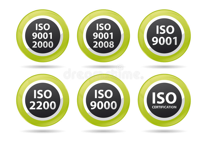 Download Iso icons stock vector. Image of badge, 9001, design - 25173361