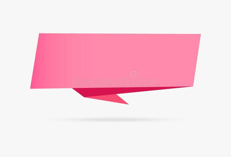 Iso infographic della raccolta di amore dell'insegna di origami della carta rosa del nastro illustrazione vettoriale