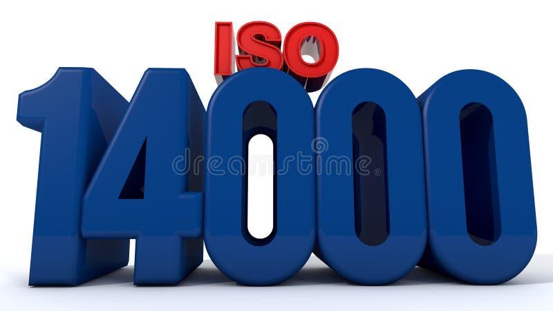 ISO 14000 royalty free illustration