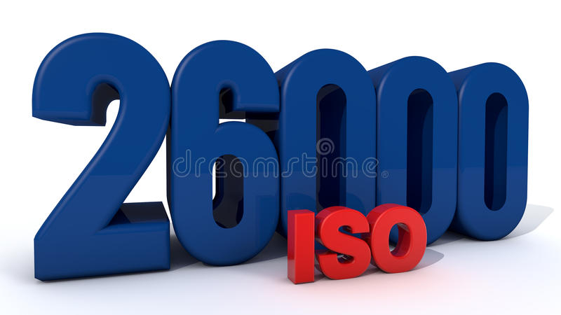 ISO 26000. Quality control certificate royalty free illustration