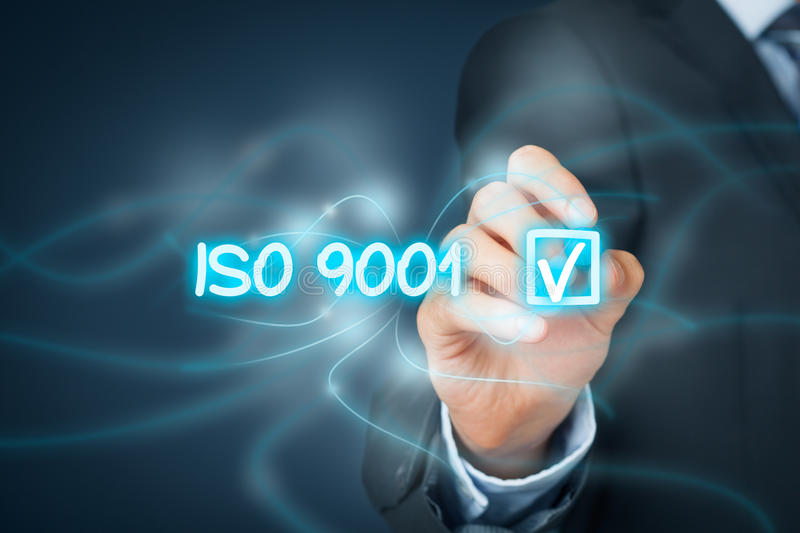 ISO 9001 quality management system royalty free stock photo