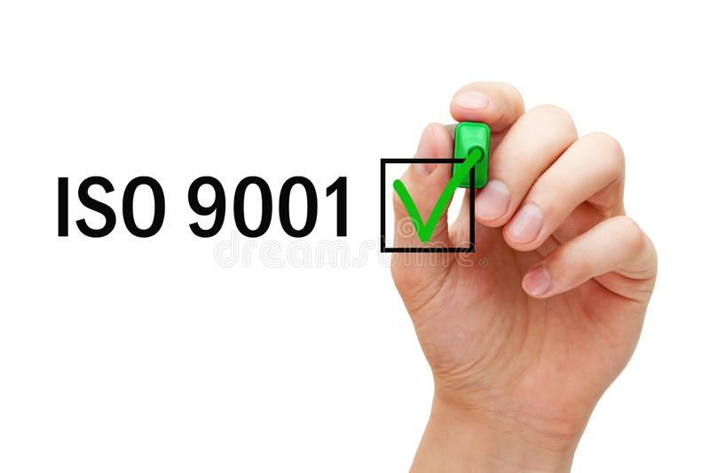 ISO 9001 Quality Management System Certified Concept royalty free stock photo