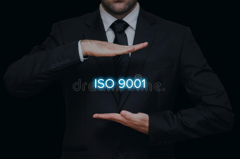 ISO 9001 standard concept royalty free stock photography