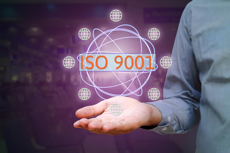 ISO 9001 standard for quality management of organizations with a royalty free stock images
