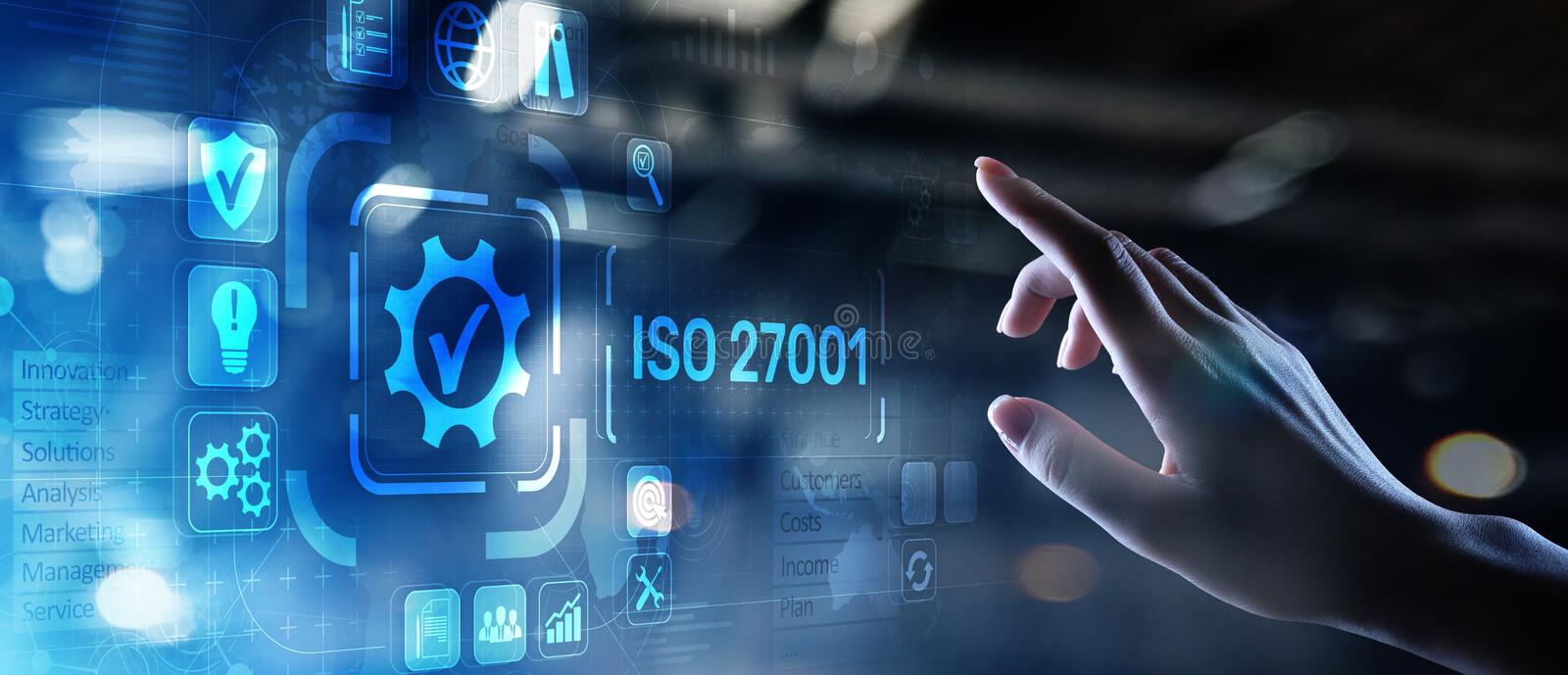 ISO standards quality control assurance warranty business technology concept. ISO standards quality control assurance warranty business technology concept stock photos