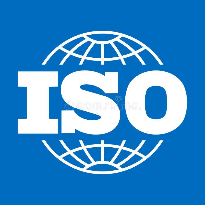 iso-symbol Internationell organisation för standardiseringtecken, symbol royaltyfri illustrationer