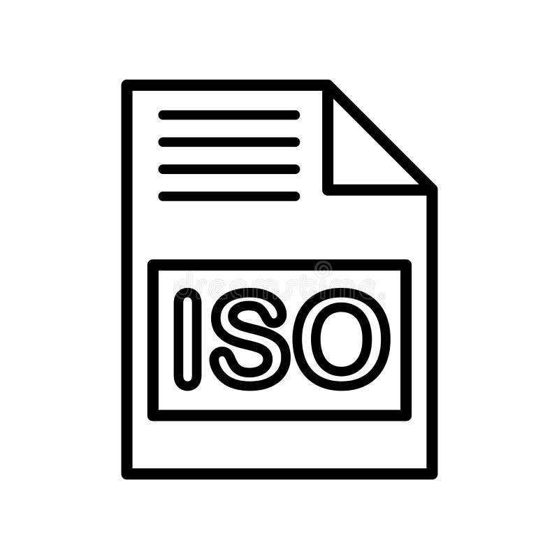 Iso-symbolsvektor som isoleras på vit bakgrund, Iso-tecken royaltyfri illustrationer