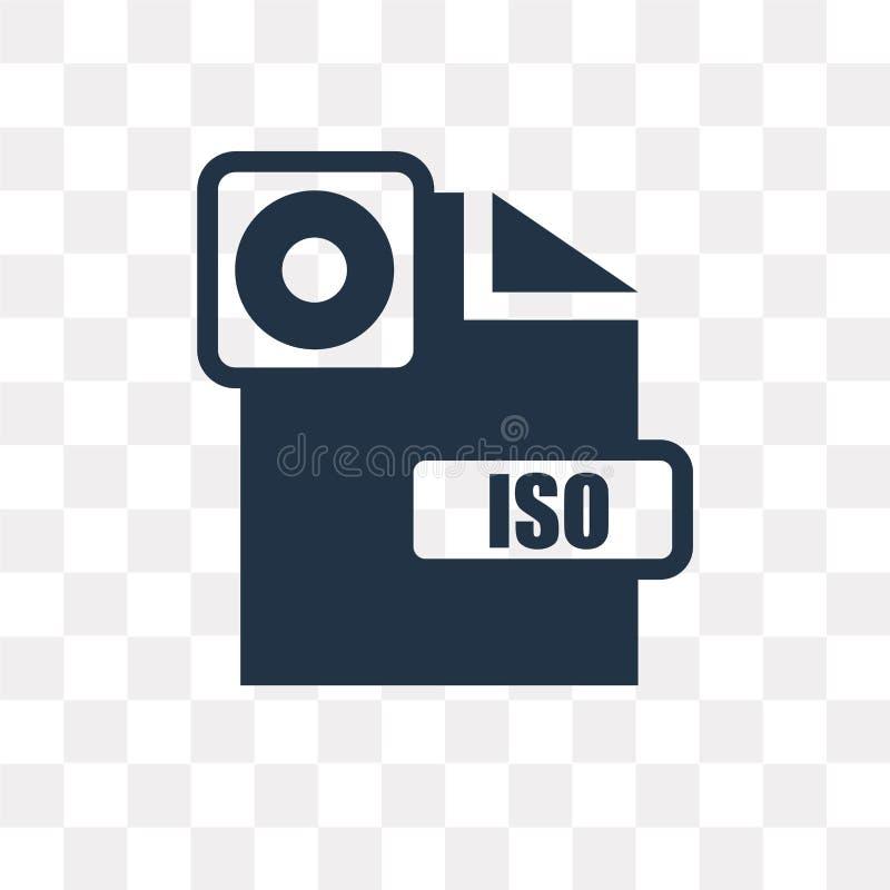 ISO vector die Ikone, die auf transparentem Hintergrund, ISO-transpa lokalisiert wird vektor abbildung